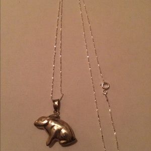 Jewelry - Sterling Silver Bunny Necklace 🐰
